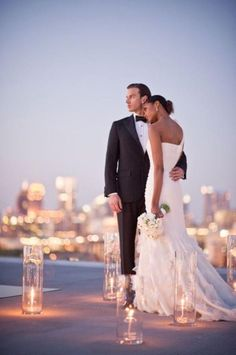 There is nothing like looking over the city you love as newlyweds.