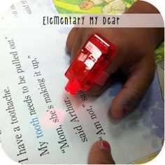 Finger flashlights for guided reading. and we thought they were just annoying toys! Guided Reading, Teaching Reading, Fun Learning, Reading Time, 2nd Grade Classroom, Classroom Fun, Teacher Tools, Teacher Stuff, Speech And Language