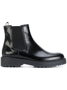 Prada brogue ankle boots