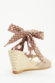 Polka Dot Wedge Sandal