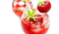 Party-Erdbeer-Bowle