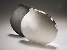 Angela Cork - Modern Silverware - 2 Slim vases