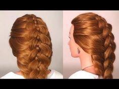 Прическа: Коса из 5 прядей. Braided hairstyles for long hair (5 Strand Braid)