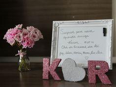 Fonte: Casamentos.com.br - Letras feita de isopor com gliter
