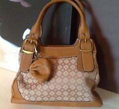 Nine West Bag Purse Designer Fashion Camel Color Belt Buckle Coin Wallet Key | eBay