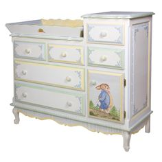 Enchanted forest French Changer and Luxury Baby Cribs in Baby Furniture Baby Crib Designs, Baby Design, Enchanted Forest Nursery, Forest Bedroom, Baby Furniture Sets, Painted Baby Furniture, Children Furniture, Furniture Redo, Repurposed Furniture
