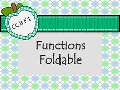 In this foldable, students will learn how to identify a function on a graph, a table and mapping diagram. It includes a vocabulary section (relation, function, domain, range).
