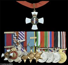 Up for auction: Les Munro will sell his medal for New Zealand Order of Merit, above and, p...