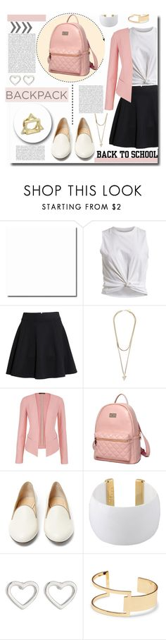"""""""Back to School: New Backpack"""" by kts-desilva ❤ liked on Polyvore featuring VILA, H&M, Givenchy, maurices, Princess Carousel, Charlotte Olympia, Gogo Philip, Marc by Marc Jacobs, Sole Society and BackToSchool"""