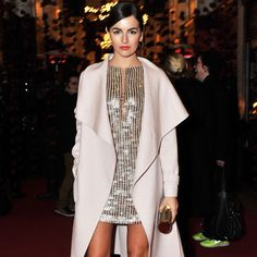 Camilla Belle hit the town last night to attend Salvatore Ferragamo's London flagship store launch looking every bit like the Hollywood star. The actress paired a Salvatore Ferragamo sequined minidress with a wool coat for an irresistibly gorgeous party look