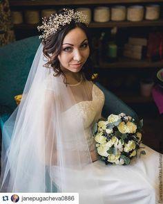 Купить Сверкающая диадема, пышный венок из камней - белый, диадема невесты, диадема для невесты, украшениеневесте