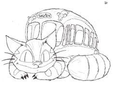 Studio Ghibli Coloring Pages Sketch Coloring Page