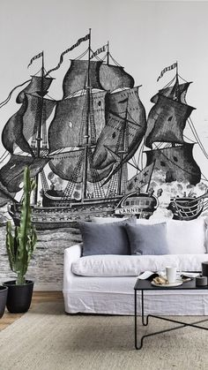 Pirate Adventure, Types Of Rooms, Easy Home Decor, Beautiful Wall, Your Space, Wall Murals, Pirates, Decals, England