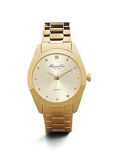 Kenneth Cole New York Womens KC4949 Rock Out Yellow Gold Dial Diamond Dial Bracelet Watch * To view further for this item, visit the image link.Note:It is affiliate link to Amazon. #westcoasts