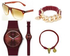 image Pantone, Bracelet Watch, Burgundy, Watches, Bracelets, Accessories, Image, Fashion, Seasons