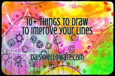 10+ Things to Draw to Improve Your LineWork - daisy yellow -