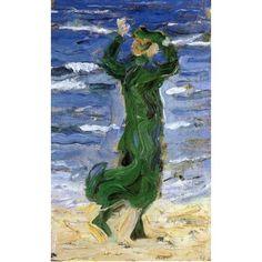Woman In The Wind By The Sea by Franz Marc oil painting art gallery - Porter Sleit Oil Portrait, Portrait Paintings, Fish Paintings, Oil Painting Abstract, Abstract Art, Painting Art, Koi Art, Franz Marc, Art Oil