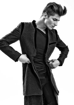 O.k., it is black again. Imagine some other fabric like a high quality Jacquard and you get hypnotic #menswear.