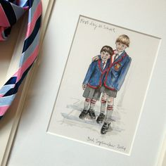 First+Day+of+School+Hand+Drawn+Illustration, £63.00