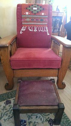 Morris Chair Royal Chair Co. Sturgis, Michigan. Push Button Reclining.