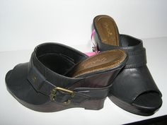 Qupid Black Wedges w/ Open Toe- $48.99 Size 7 Retail $64.99
