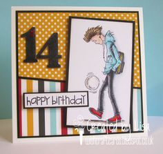 Happy Saturday :o) I'm here with my DT card for Sweet Stampin' , where our challenge for this week is 'stars & stripes'. Teenage Boy Birthday, Birthday Cards For Boys, Birthday Boys, Men's Cards, Boy Cards, Kids Cards, Greeting Cards, Happy Birthday Cards Handmade, Handmade Cards