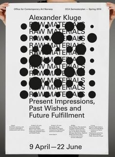 garadinervi: Hans Gremmen, Alexander Kluge, Poster for OCA, Office for Contemporary Art Norway, 2014
