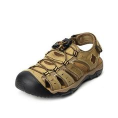 High-quality Men Hook-Loop Anti-collision Toe Shock Absorption Outdoor Hiking Sandals - NewChic Mobile.