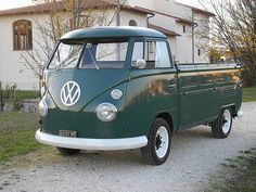 Vw PickUP T1 single cab | Volkswagen bus single cab Green 19… | Flickr
