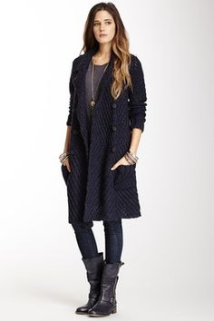 HauteLook | Blazers & Cardigans: Free People Buttermilk Biscuit Chunky Knit Cardigan