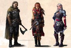 Fantasy Character Lineup by JoshCalloway.deviantart.com on @DeviantArt
