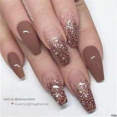 The latest ideas for acrylic nail designs are so perfect for .- The latest ideas for acrylic nail designs are so perfect for fall! Hope you can … # acrylic nail # designs # autumn # hope # ideas - Long Nail Designs, Ombre Nail Designs, Art Designs, Design Ideas, Brown Nail Designs, Best Nail Designs, Acrylic Nail Designs Classy, Acrylic Nail Designs Glitter, New Years Nail Designs