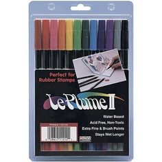 Le Plume II Double-Ended Markers - Primary