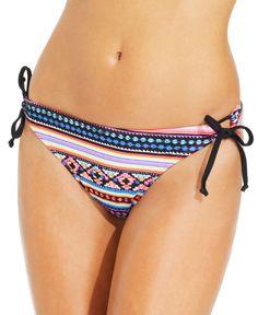 California Waves Printed Side-Tie Bikini Bottom