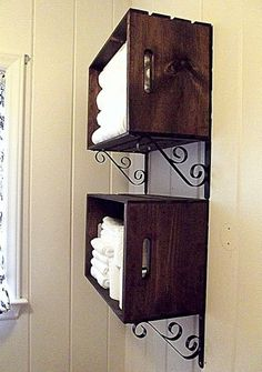 Wooden Crate wall storage