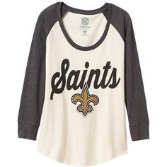 Old Navy Womens NFL Team Tee ($28) ❤ liked on Polyvore featuring tops, t-shirts, jersey tops, raglan top, logo t shirts, pink tee and fitted t shirts