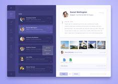UI app on ipad. Colored toolbar/side menu. Shades of purple
