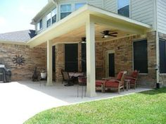 Bon Patio Cover Houston, Outdoor Dining, Wood Ceiling, Outdoor Fans, Outdoor  Dining,