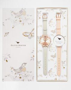 Det er også nok lidt for stort, men pænt er det. Olivia+Burton+Big+Dial+Watch+Gift+Set