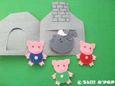 The Three Little Pigs Felt Finger Puppet Toys PDF от ShillOPOP