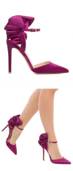 POPULAR Ruffled Berry Heels...