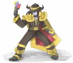 Twisted Fate - League of Legends Twisted Fate, League Of Legends, Medieval, Death, Fictional Characters, Blue Prints, League Legends, Mid Century, Fantasy Characters