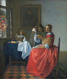 ca. 1659-1660 - Vermeer, Johannes - The Girl with a Wineglass (Dame en twee heren) - Oil on canvas 78 x 67 cm. - Herzog Anton Ulrich-Museum, Braunschweig (Brunswick)
