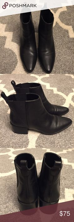 ZARA BASIC COLLECTION Pointy Black Boots. Size 7 ❗️FINAL PRICE❗️ZARA BASIC COLLECTION Pointy Black Boots. Size 7. Worn couple of times. ❌No Trades❌ Zara Shoes Ankle Boots & Booties
