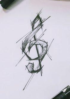 Bild Tattoos, Name Tattoos, Music Tattoos, Star Tattoos, Body Art Tattoos, Cool Tattoos, Music Drawings, Pencil Art Drawings, Cool Art Drawings