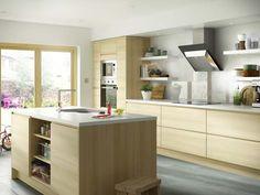 K Kitchens Ludlow Replicating a natural wood horizontal grain, this Marletti Oak kitchen ...