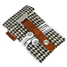 iPod Touch / Classic case - black and white vintage houndstooth wool. a total want