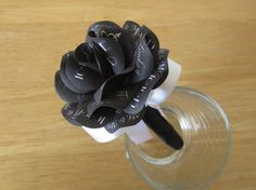 Black Wedding Marker Pen  Black Paper Rose Topped by PAPERFLORISTS