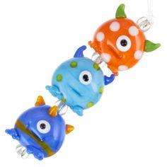 Little Monsters Glass Lampwork Bead Set