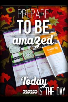 Want to change your life? Thrive Boosts Energy, Weight Management, Aches and discomfort relief, Mental Clarity, Joint & inflammation support, tension headaches, Focus, Digestion, Healthy Lifestyle Join Today Free to Sign up No obligation to Purchase No minimum order  Thrive is #AllNatural & #Amazing! The benefits of taking thrive go beyond any other supplement out there. I'm truly grateful I found this life changing product. https://delmaannmuniz.le-vel.com